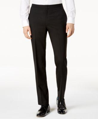 Men's Modern-Fit Black Tuxedo Suit Pants
