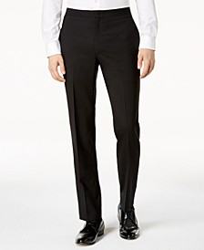 Men's Slim-Fit Black Tuxedo Suit Pants