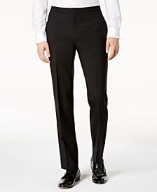 Men's Slim-Fit Black Tuxedo Suit Pants