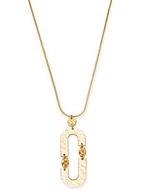 "I.N.C. Gold-Tone Link Pendant Necklace, 28"" + 3"" extender, Created for Macy's"