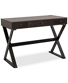 James 3-Drawer Writing Desk, Quick Ship