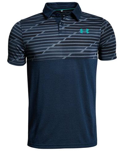 Under Armour Big Boys Threadborne Colorblocked Polo Shirt