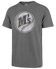 '47 Brand Men's Seattle Mariners Scrum Coop Logo T-Shirt