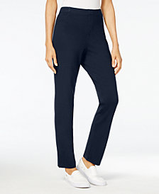 Karen Scott Petite Comfort Pull-On Pants, Created for Macy's