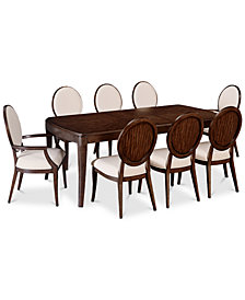 CLOSEOUT! Delfina Dining Furniture, 9-Pc. Set (Expandable Leg Dining Table, 6 Side Chairs & 2 Arm Chairs), Created for Macy's