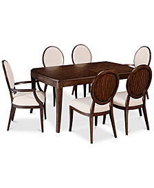 CLOSEOUT! Delfina Dining Furniture, 7-Pc. Set (Expandable Leg Dining Table, 4 Side Chairs & 2 Arm Chairs), Created for Macy's