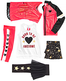 Ideology Little Girls Active Jacket, Tank Top, T-Shirt, Skort & Leggings, Created for Macy's