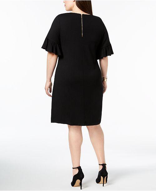 2323552e879 ... Charter Club Plus Size Ruffle-Sleeve Shift Dress