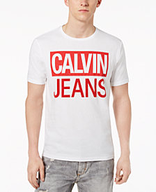 Calvin Klein Jeans Men's Flocked Logo Cotton T-Shirt