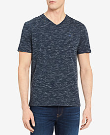 Calvin Klein Jeans Men's Big & Tall Textured V-Neck T-Shirt