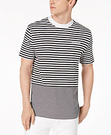 Calvin Klein Jeans Men's Ottoman Tipped Striped T-Shirt