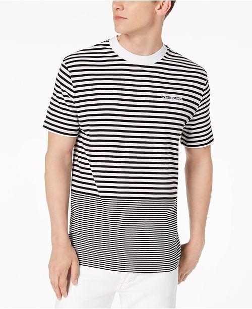 63e5c6bfacc5 Calvin Klein Jeans Men's Ottoman Tipped Striped T-Shirt & Reviews ...