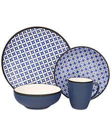 Sango Crystal Blue 16-Pc. Dinnerware Set