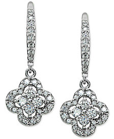 Giani Bernini Cubic Zirconia Cluster Flower Drop Earrings, Created for Macy's