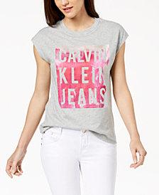 Calvin Klein Jeans Cap-Sleeve Logo T-Shirt