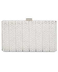 I.N.C. Mayaa V Imitation Pearl Clutch, Created for Macy's