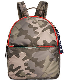Tommy Hilfiger Kensington Camo Quilted Nylon Backpack