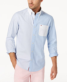 Tommy Hilfiger Men's Pieced Oxford Shirt, Created for Macy's