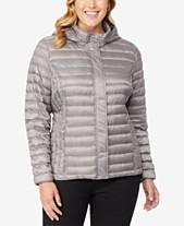 10c1fc5d 32 Degrees Plus Size Hooded Puffer Coat