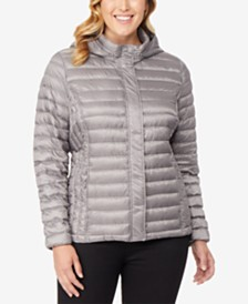 32 Degrees Plus Size Hooded Puffer Coat