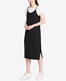 Calvin Klein Layered T-Shirt Midi Dress
