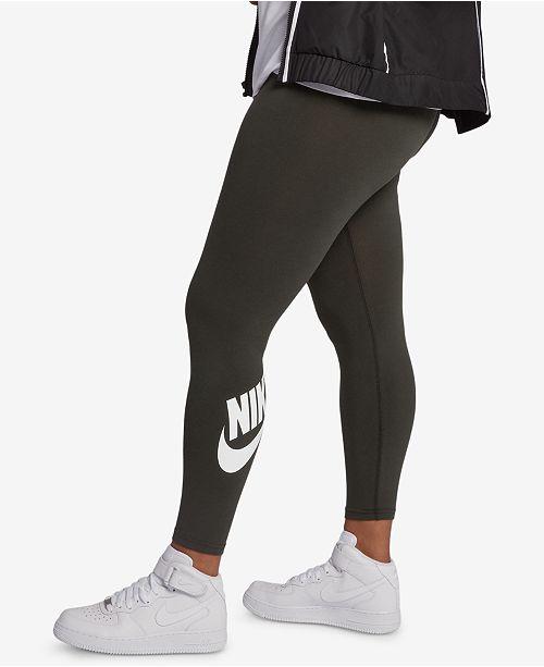 Nike Plus Size High Waist Leg A See Leggings Reviews Pants Leggings Plus Sizes Macy S