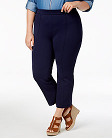 MICHAEL Michael Kors Plus Size Side-Zip Ankle Pants