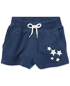Ralph Lauren French Terry Star Shorts, Baby Girls