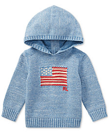 Ralph Lauren American Flag Cotton Hoodie, Baby Boys