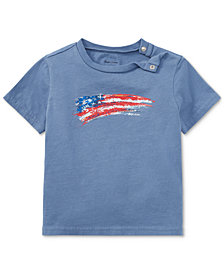 Ralph Lauren Cotton Jersey Graphic T-Shirt, Baby Boys