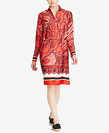 Lauren Ralph Lauren Petite Printed Twill Dress