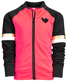 Ideology Little Girls Colorblocked Zip-Up Active Jacket, Created for Macy's