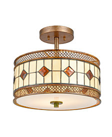 Dale Tiffany Minerals Rustic Bronze Flush Mount