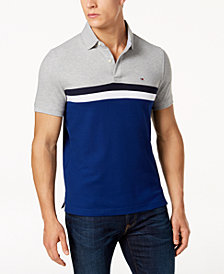 Tommy Hilfiger Men's Martin Striped Slim Fit  Polo, Created for Macy's