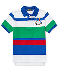 Ralph Lauren Little Boys CP-93 Striped Cotton Jersey Polo Shirt