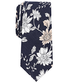 Bar III Men's Skinny Floral Tie, Created for Macy's