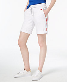 Tommy Hilfiger Striped Rolled-Hem Shorts, Created for Macy's