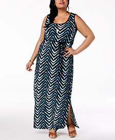 City Chic Trendy Plus Size Printed Maxi Dress