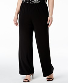Alex Evenings Plus Size Wide-Leg Pants