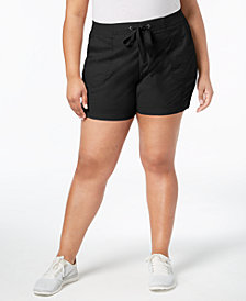 Style & Co Plus Size Comfort-Waist Shorts, Created for Macy's