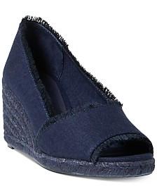 Lauren Ralph Lauren Carmondy Espadrille Wedge Sandals