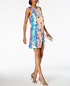 Laundry by Shelli Segal Sequin Paillete A-Line Dress