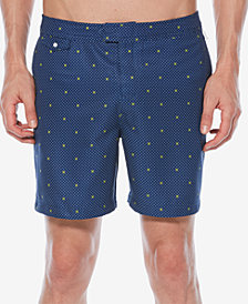"Original Penguin Men's Dot-Print 6"" Swim Trunks"