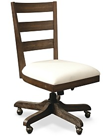 Ridgeway Home Office Wood Back Upholstered Desk Chair