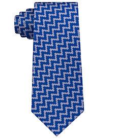 Sean John Men's Angular Herringbone Silk Tie