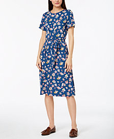 Weekend Max Mara Nazario Printed Belted Dress
