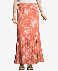 ECI Embroidered Maxi Skirt