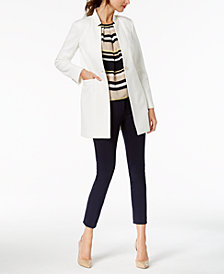 Tommy Hilfiger Turn-Key Jacket, Striped Shell & Ponté-Knit Pants