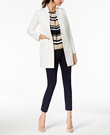 Tommy Hilfiger Turn-Key Jacket, Striped Shell & Ponté-Knit Pants