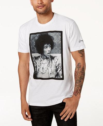Sean John Men's Jimi Hendrix White Party Graphic-Print T-Shirt